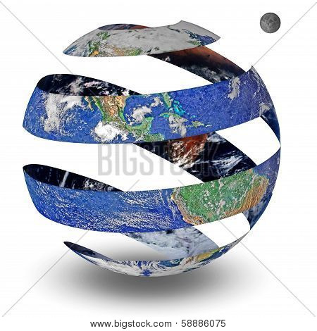 Circle Spiral planet isolated