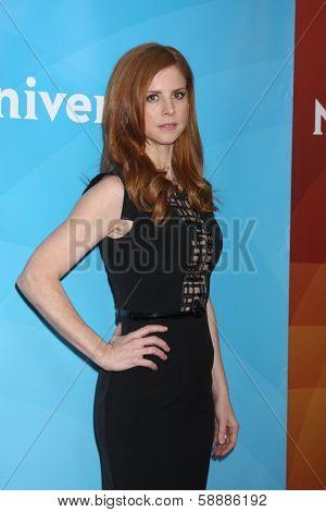 LOS ANGELES - JAN 19:  Sarah Rafferty at the NBC TCA Winter 2014 Press Tour at Langham Huntington Hotel on January 19, 2014 in Pasadena, CA