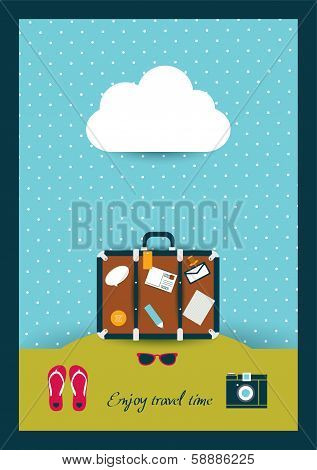 Holiday concept. Travel boot.