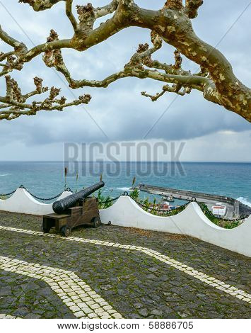 Cannons In Lajes Das Flores, Azores Archipelago (portugal)