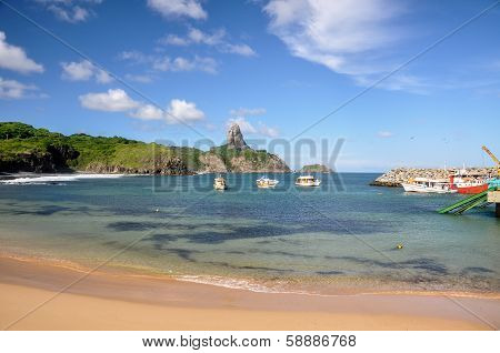 Bay Of Santo Antonio On Fernando De Noronha, Pernambuco (brazil)