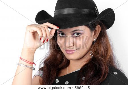 Traditional Indian Cowgirl