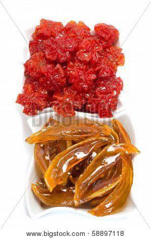 Vietnamese Sweetened Kumquat And Mangoes, Traditional Snack During Lunar New Year, Tet