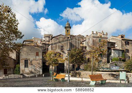 Square In Bracciano, Lazio, Italy