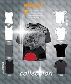 T-shirts collection Vector design