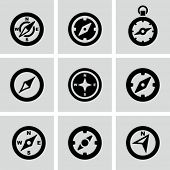 pic of compass  - Compass icons - JPG