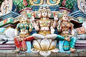 foto of tamil  - Statues of hindu deities in ancient Kapaleeshwarar Temple Chennai Tamil Nadu India - JPG