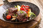 stock photo of deer meat  - venison metallions - JPG