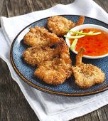 stock photo of shrimp  - Coconut Shrimp - JPG