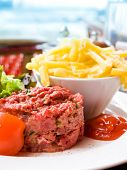 pic of tartar  - tasty Steak tartare  - JPG