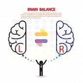 foto of right brain  - Creative left and right brain Idea concept background design - JPG