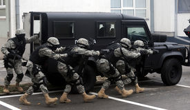 foto of smuggling  - Special force soldiers in anti terrorism action - JPG