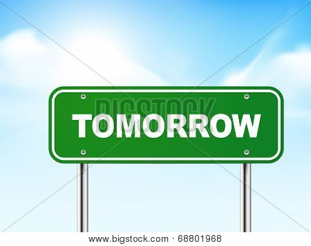 3D Tomorrow Road Sign