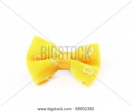 Yellow bow tie.