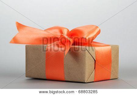 Gift box with orange bow