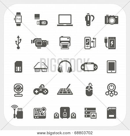 Electronic And Gadget Icons Set
