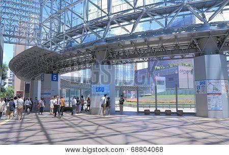 Kanazawa Station bus terminal Japan