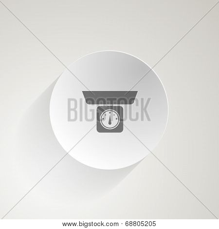 Flat vector icon for kitchen Scale