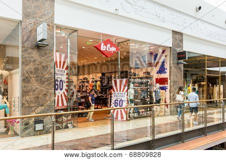 People Buying Clothes In Lee Cooper Store