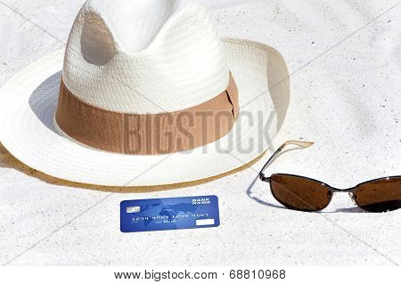 Credit Card Lying On The Beach