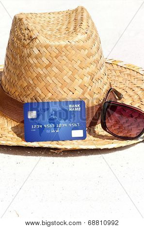 Credit Card Lying On The Beach