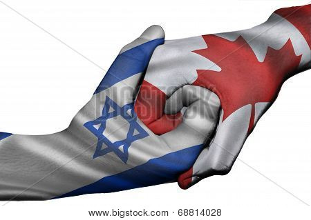 Handshake Between Israel And Canada
