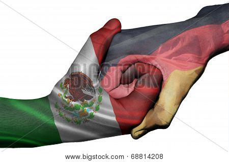 Handshake Between Mexico And Germany