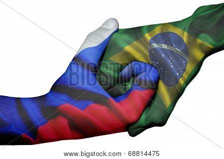 Handshake Between Russia And Brazil