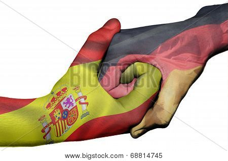 Handshake Between Spain And Germany