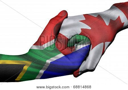 Handshake Between South Africa And Canada