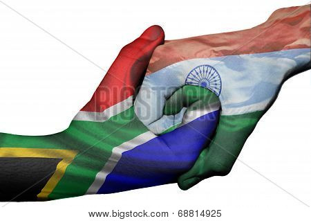 Handshake Between South Africa And India