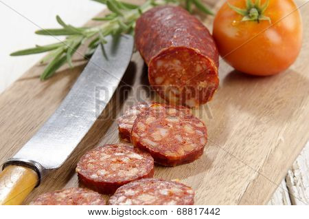 Sliced Spanish Chorizo, Tomato And Rosemary