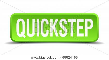 Quickstep Green 3D Realistic Square Isolated Button
