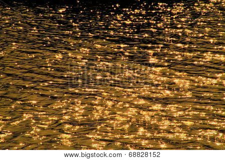 scintillate sunlight in the river background