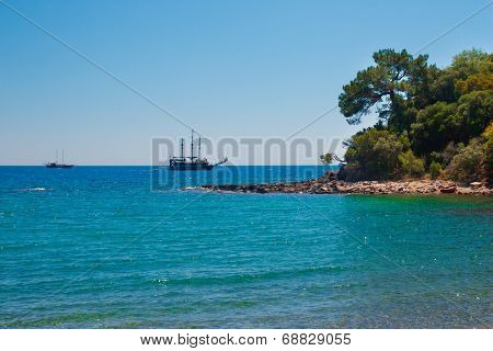 Beautiful Bay In Ancient City Phaselis