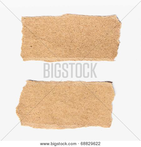 Two Torn Paper On Isolated On White Background.