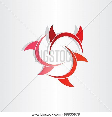 Devil Horns Abstract Symbol