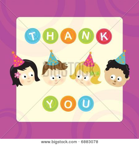 Thank You w/ kids (mixed nationalities)