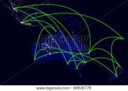 Australia Network Map