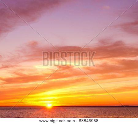 Fiery Backdrop Setting Sun