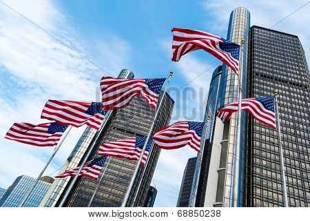 Flags in Detroit