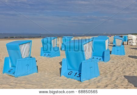 Hooded Beach Chairs At The Baltic Seacoast