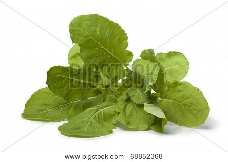 Fresh Spring greens on white background
