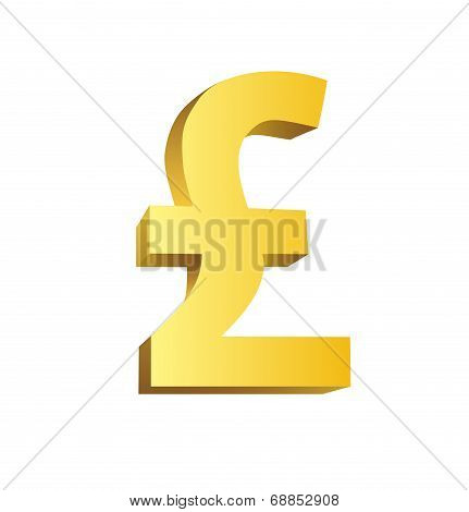 Golden currency symbol