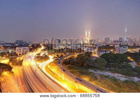 Curving Road Towards Kuala Lumpur