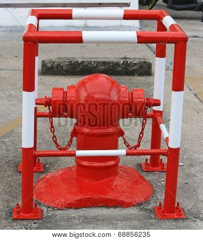 Red Fire Hydrant In Thailand