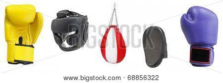 Punching bag under the light background