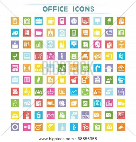office icons, flat icons
