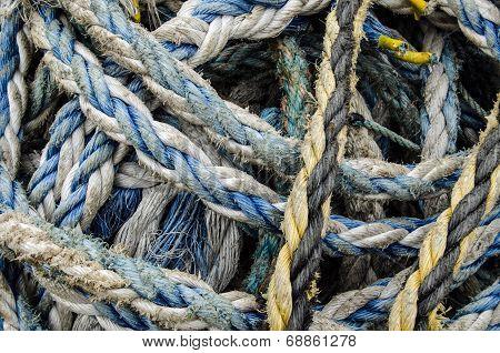 Rope bundle close up