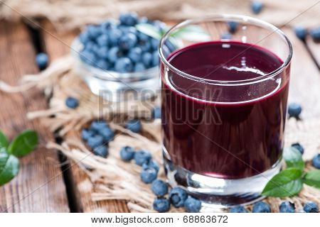 Glass With Blueberry Juice